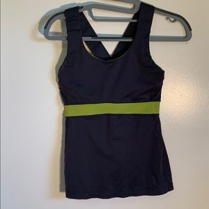 Lululemon Swift Tank Top in Gray and Green